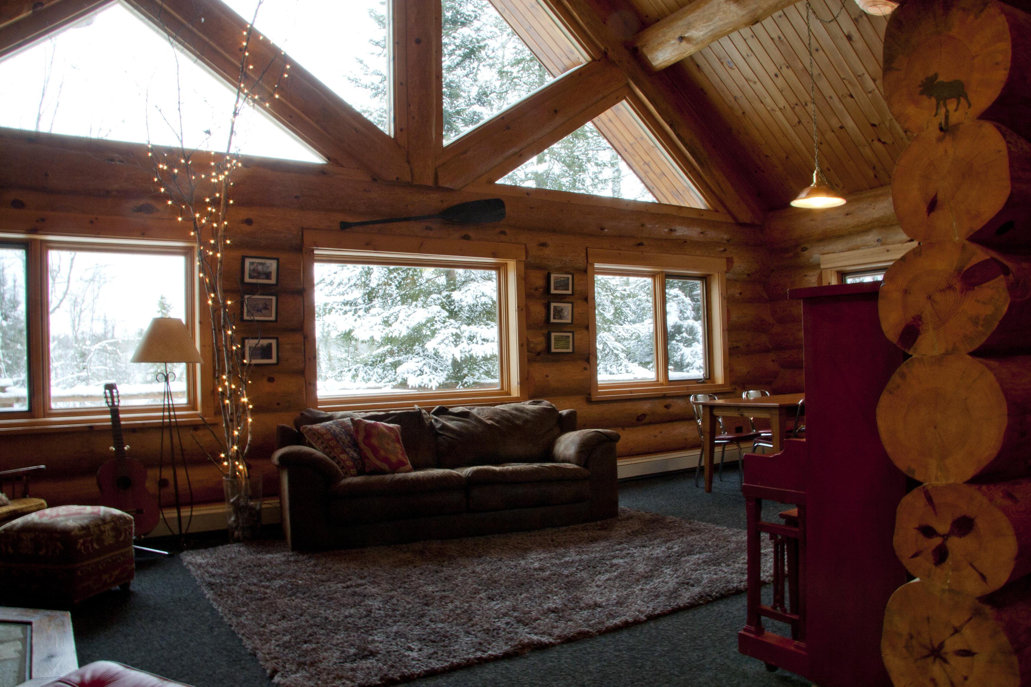 Custom Log Home Interior Photos Ely Log Home For Sale
